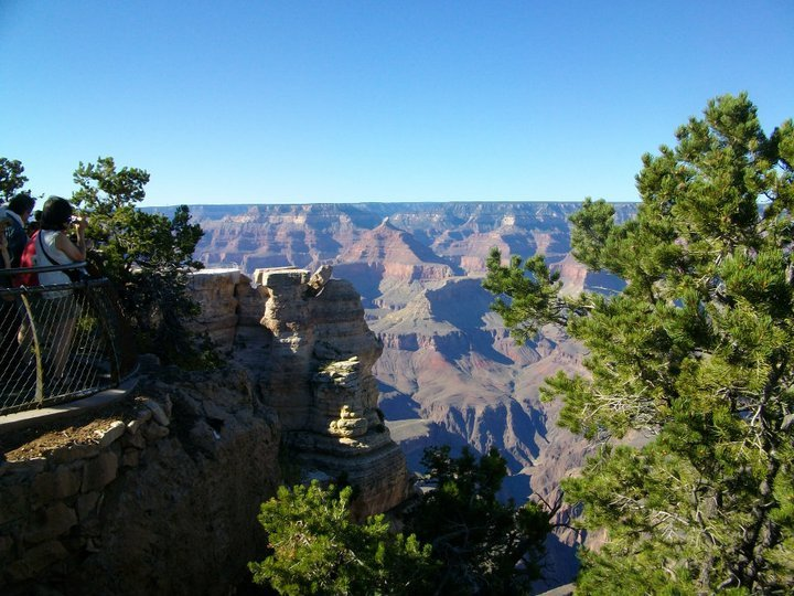 First glimpse of the Grand Canyon
