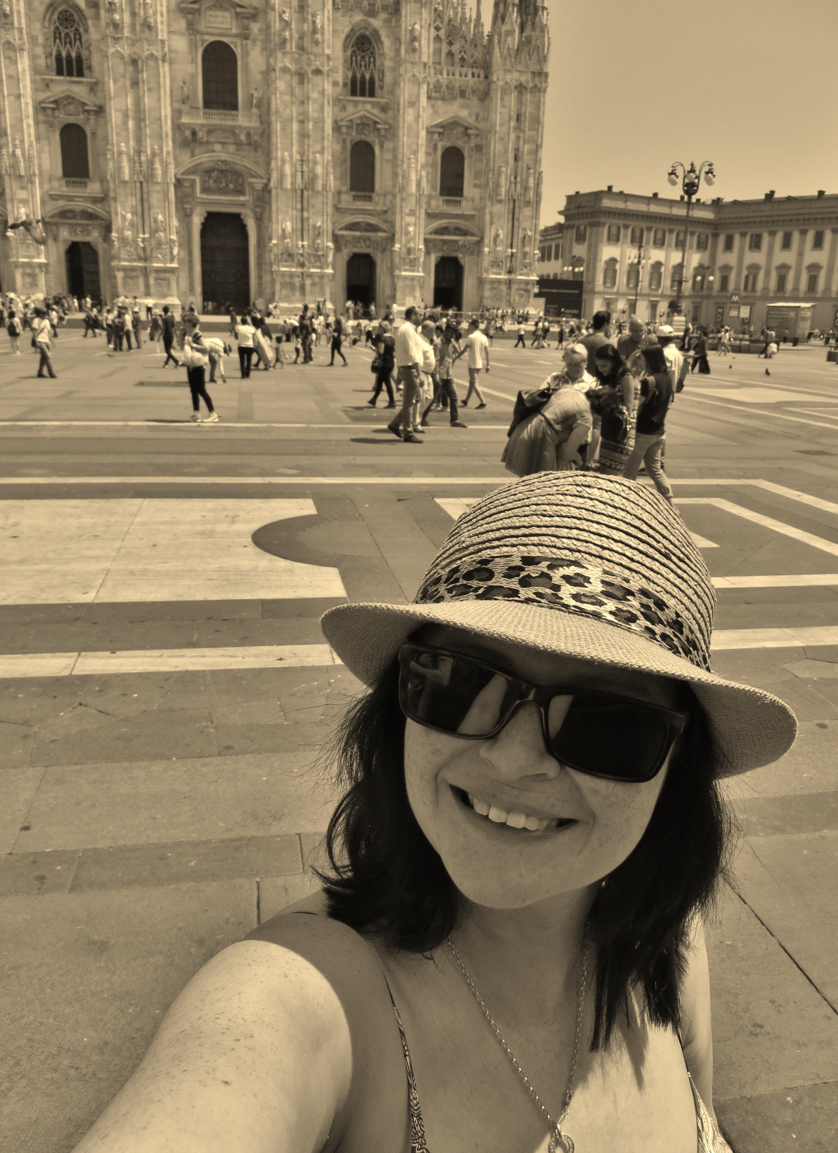 Emmalene at Duomo, Milan
