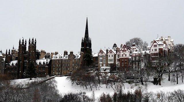 Old Town, Princes Street Gradens, Edinburgh, Scotland
