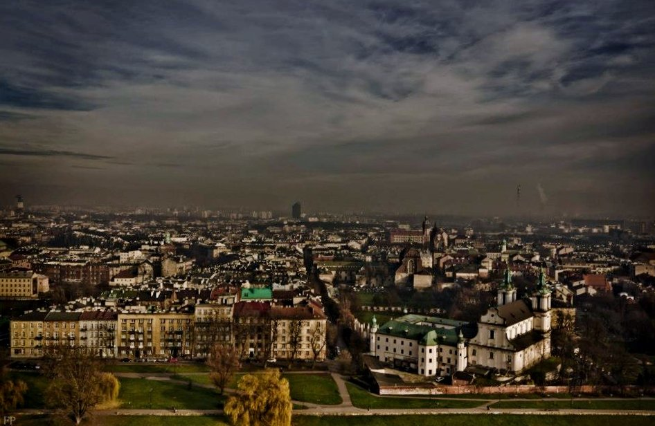 Krakow from above
