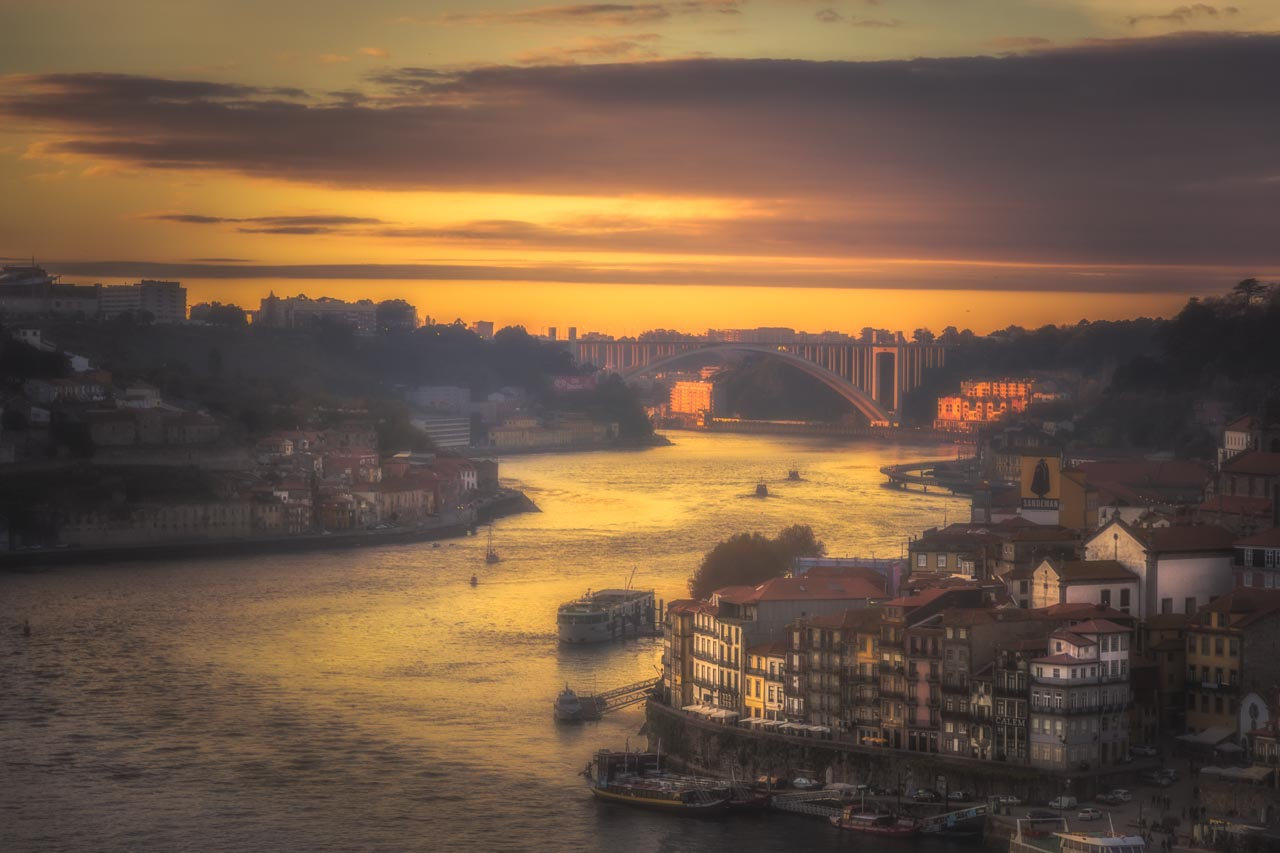 Sunset over Porto.