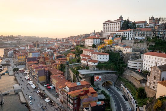 porto-portugal-by-van-buildings-in-sunset
