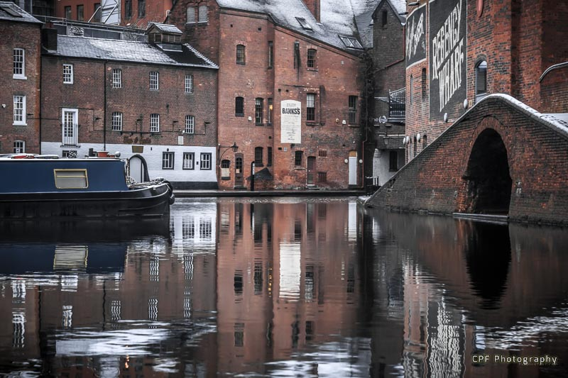 Winter Reflections at Gas Street Basin