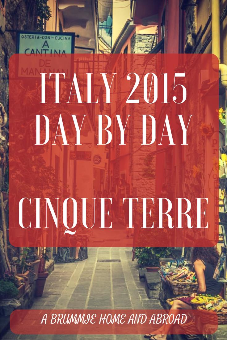 Italy Cinque Terre 2015 Pin