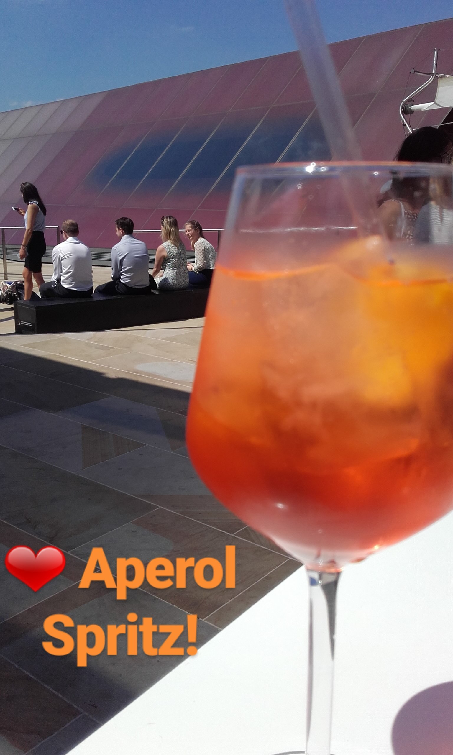 Another Aperol Spritz photo to add to the collection' this one's from Madisons at One New Change rooftop terrace in London