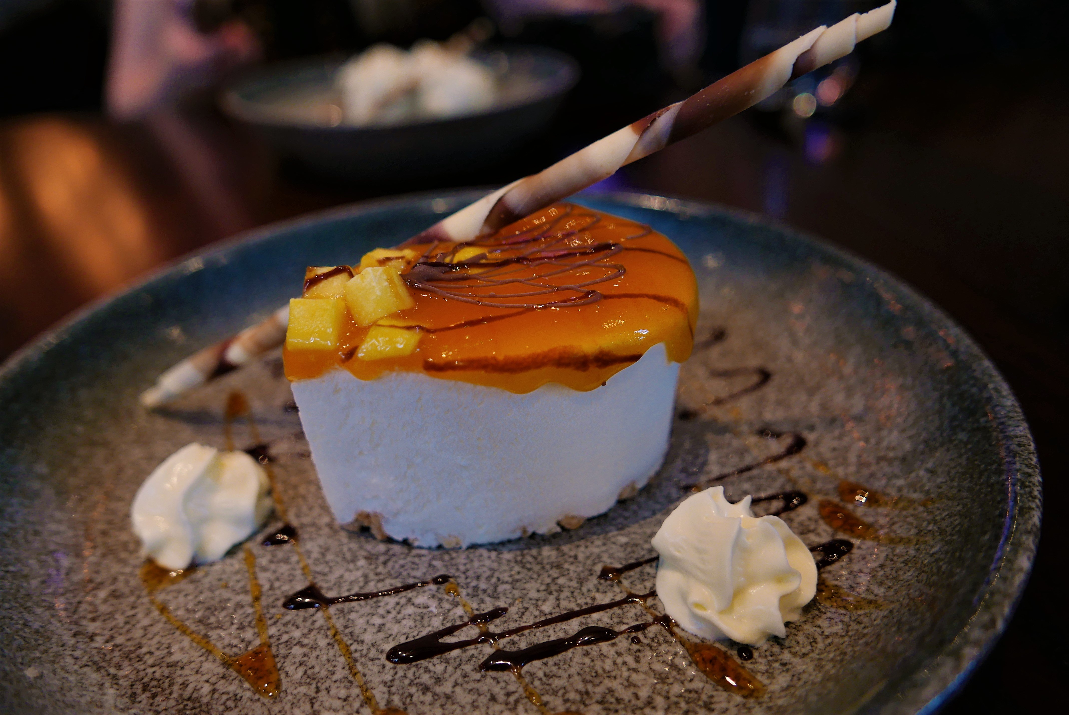 Mango & Passionfruit Cheesecake at Siamais Birmingham