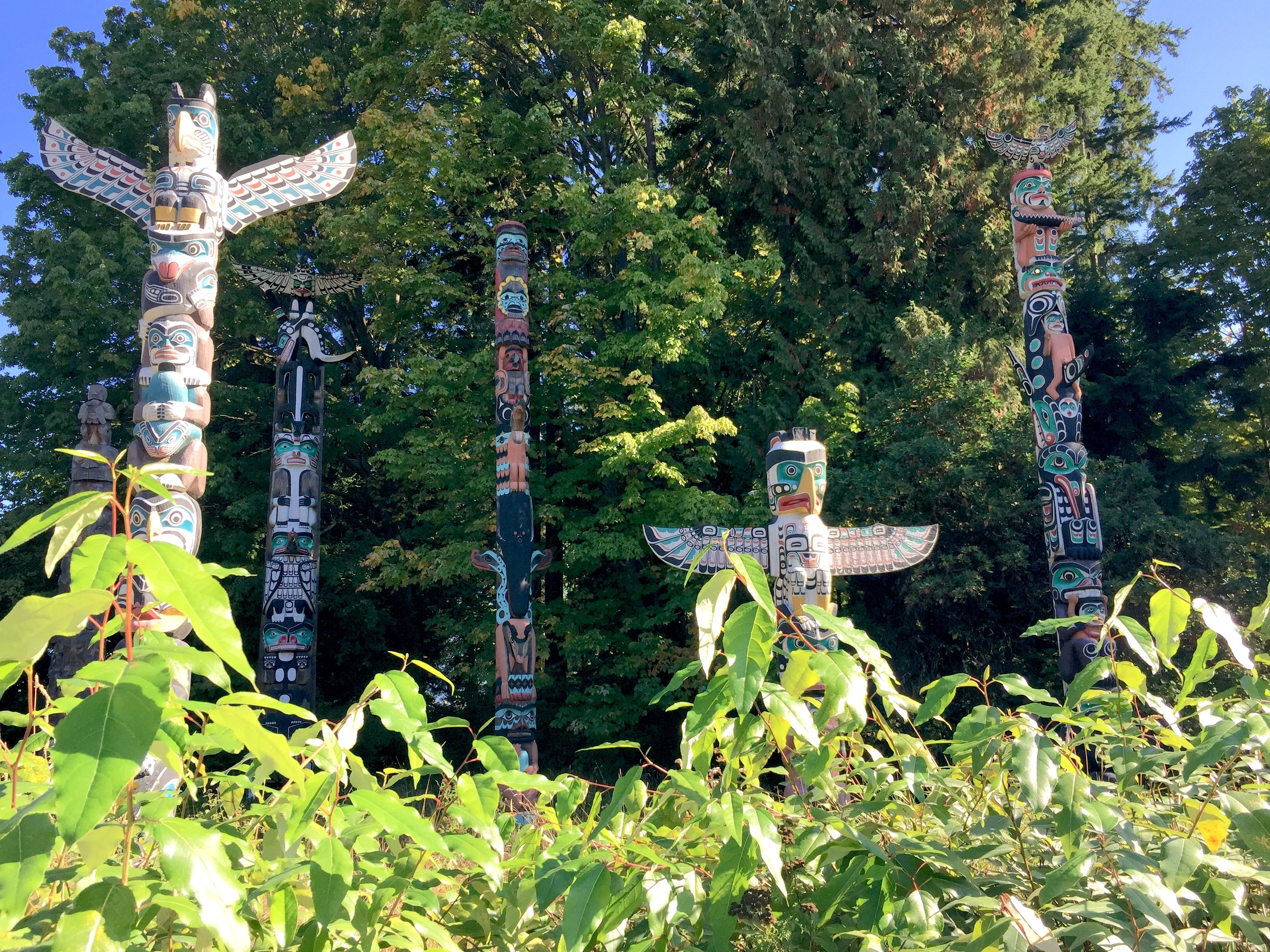 The famous totem poles at Brockton Point