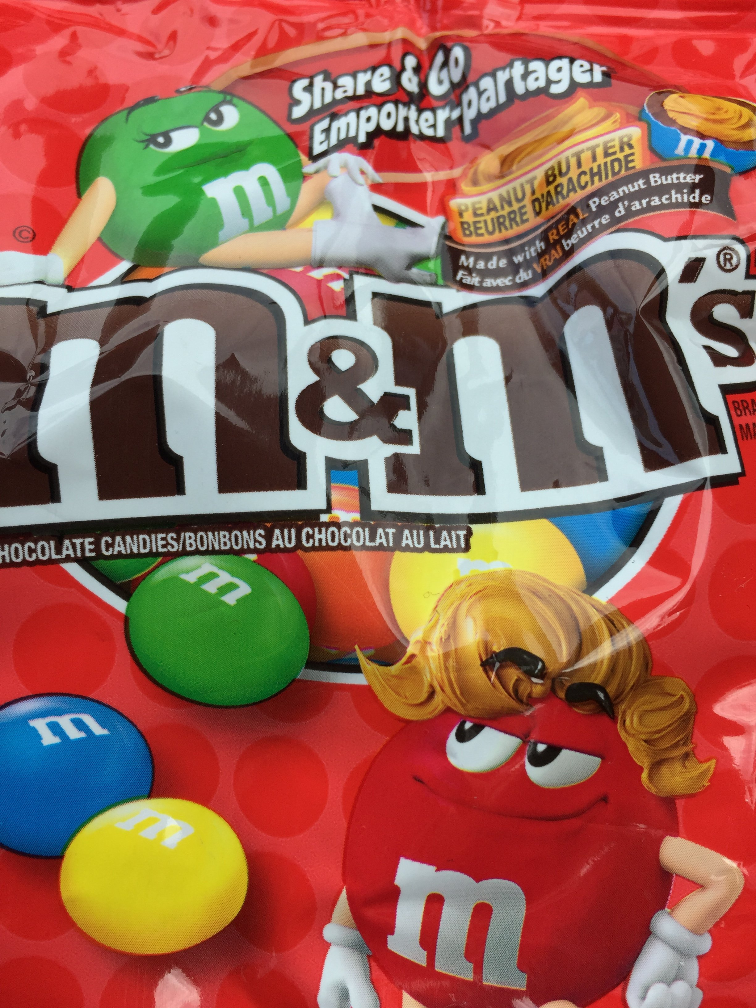 Peanut Butter M&Ms. Not available in the UK