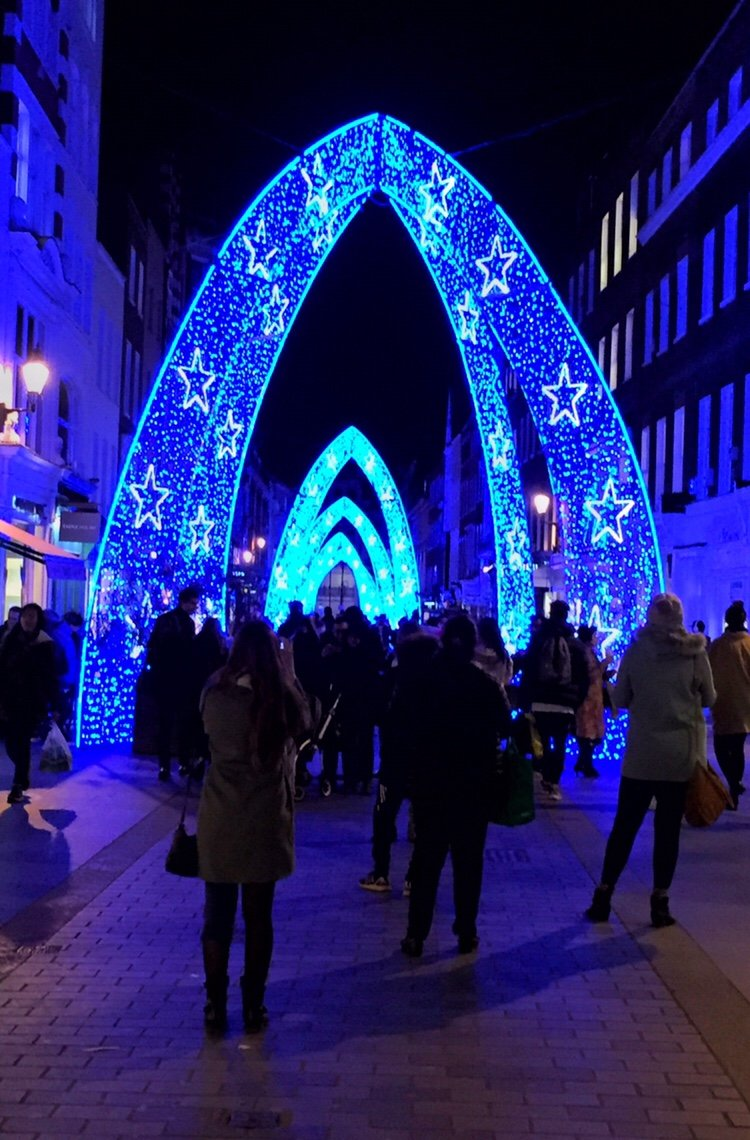 Festive lights at South Molton Street, London