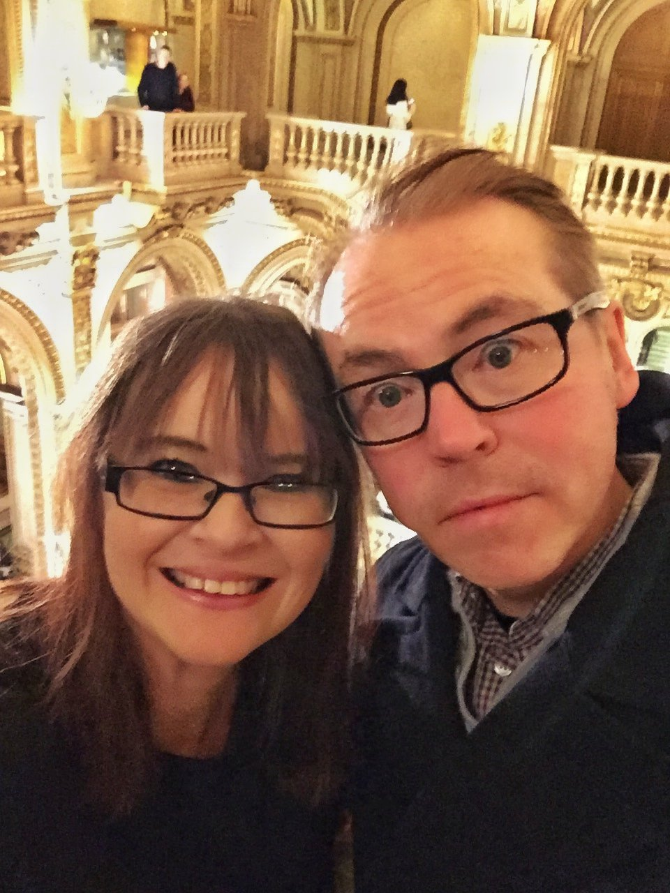 Mr Fletche and I at the Vienna State Opera House