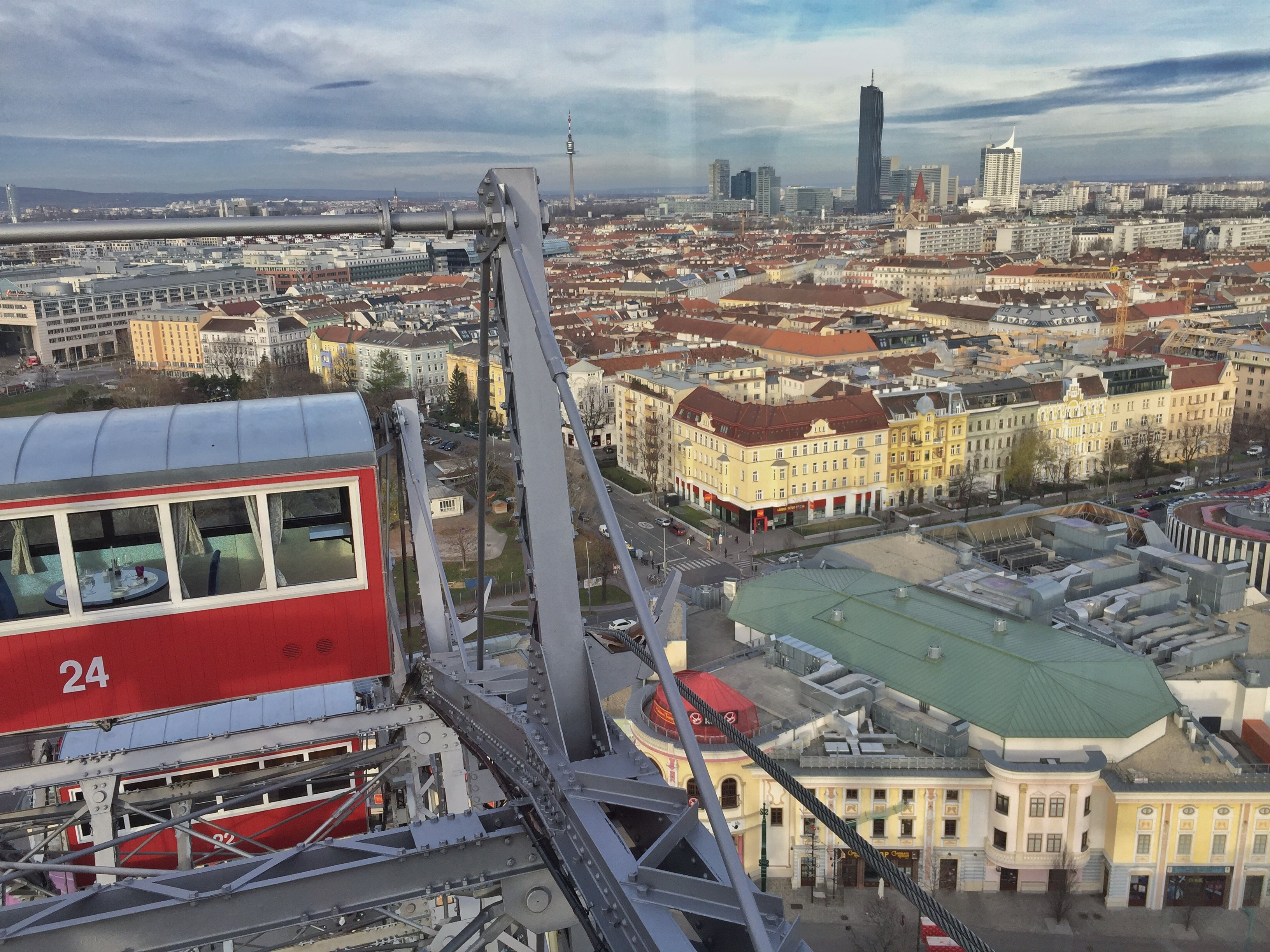 Views over Vienna from the Wiener Riesenrad - Giant Ferris Wheel