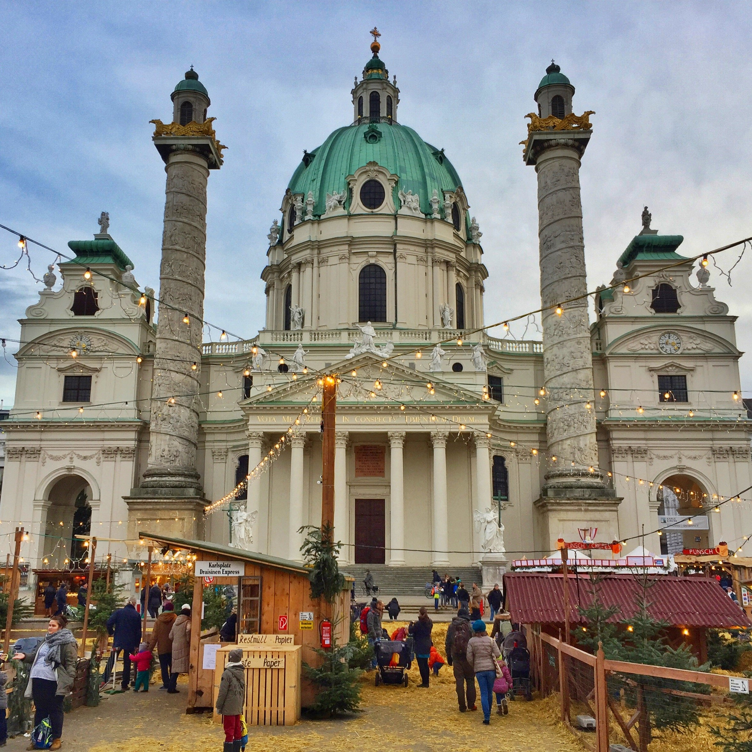 The Christmas Market at Karlsplatz