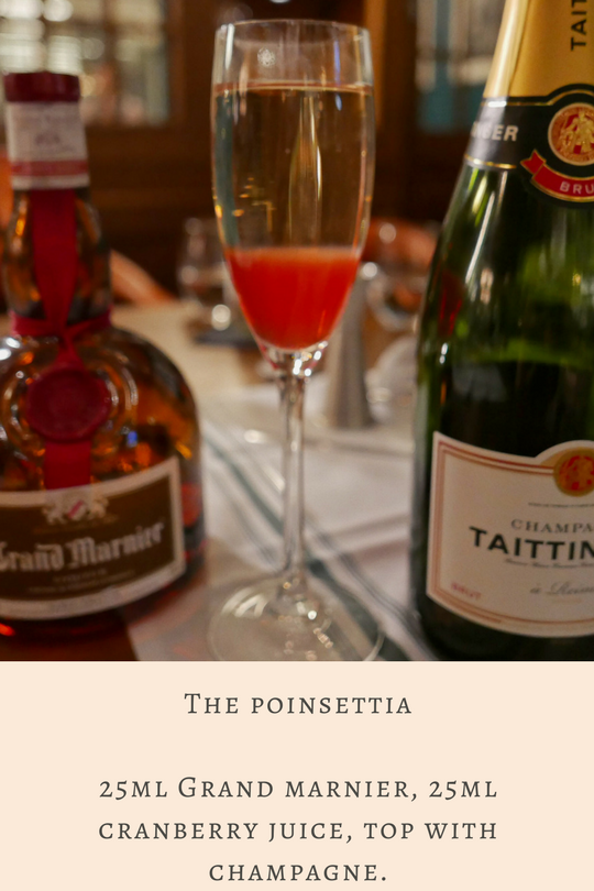 Cocktail Masterclass at Tom's Kitchen: The Poinsettia