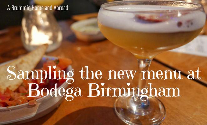 Launch of the new menu at Bodega Birmingham