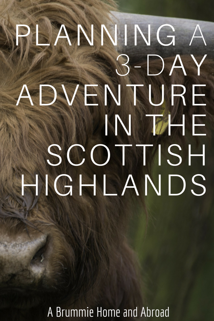 trip itinerary for the scottish highlands
