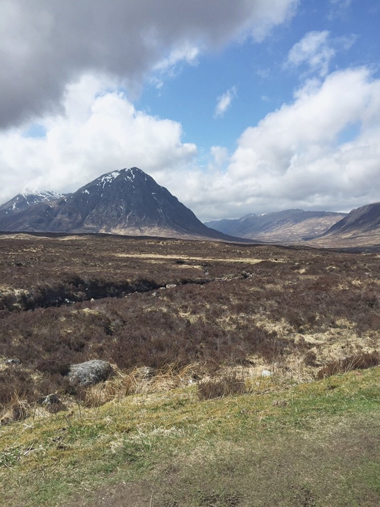 Glen Etive, mountains in Glencoe, Scottish Highlands