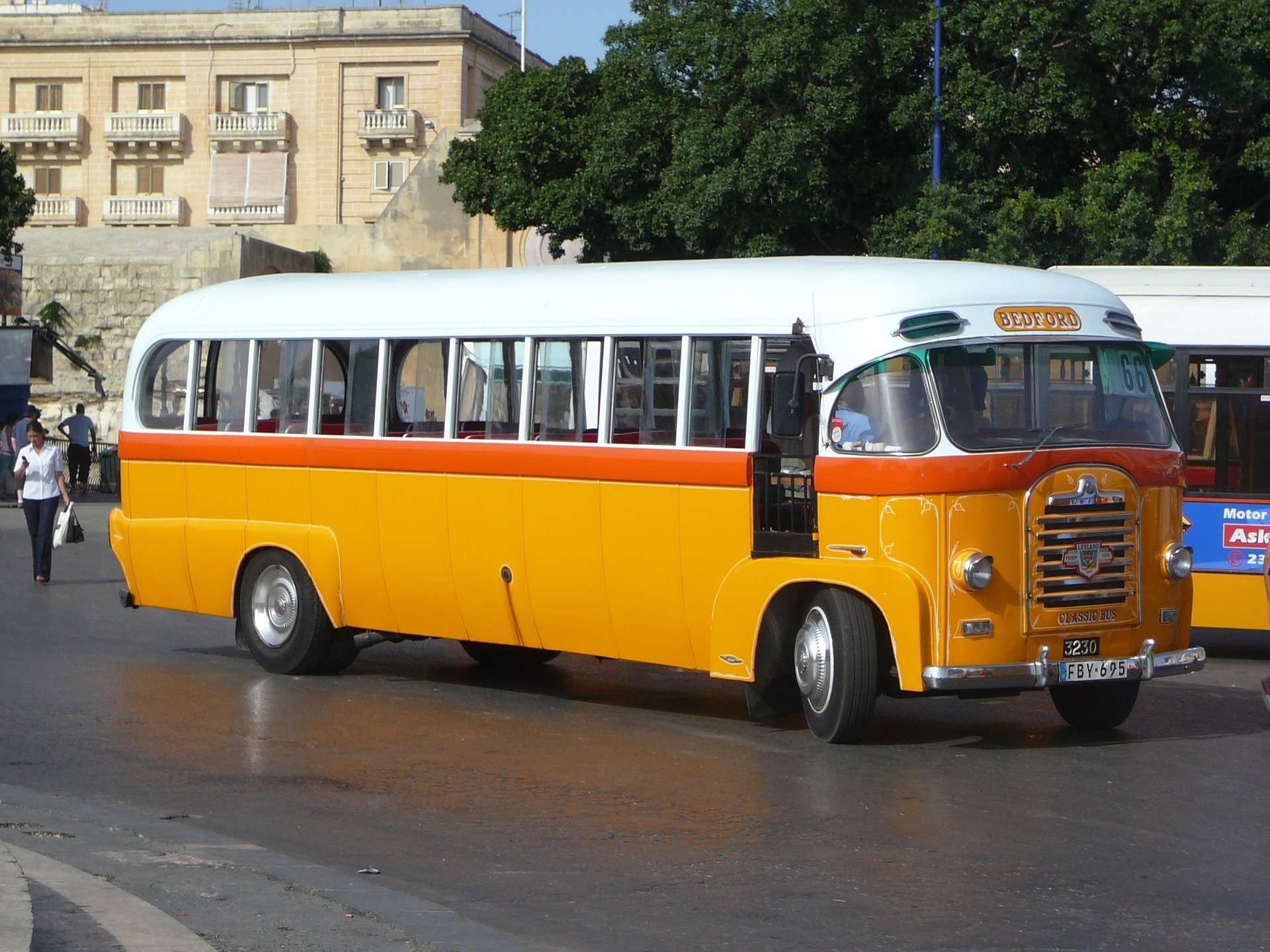 Yellow vintage bus, Malta