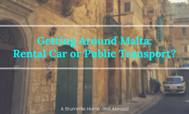 Title Page: Getting around Malta