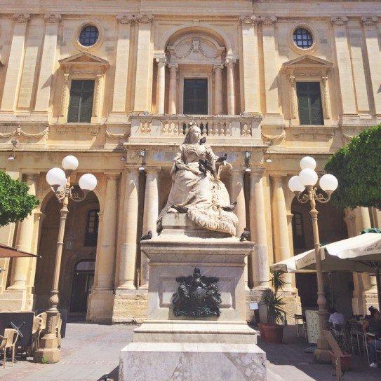 Statue of Queen Victoria, Republic Square, Valletta