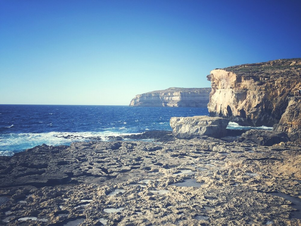 Malta, Gozo, site of Azure Window, Dwejra