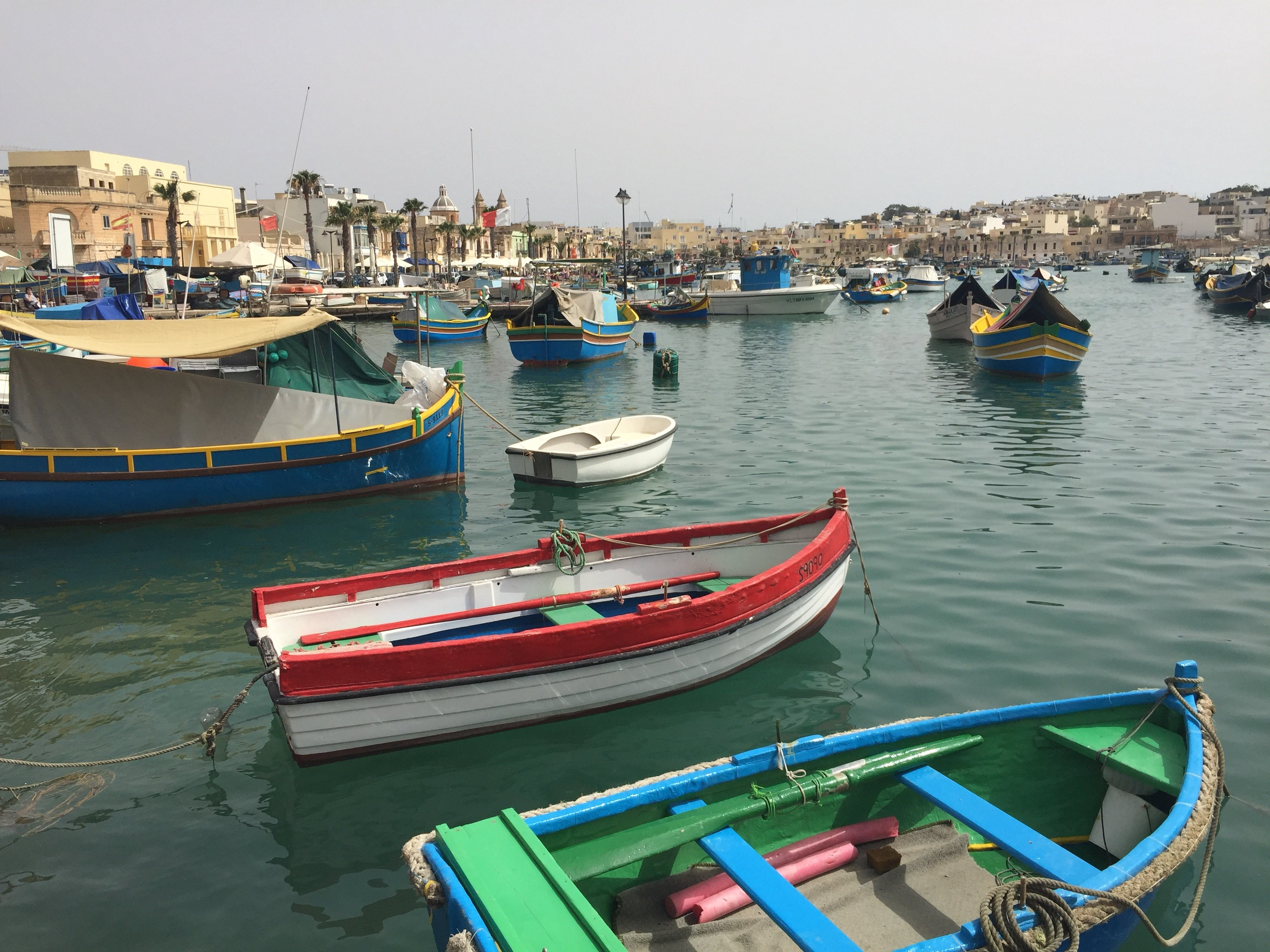 Marsaxlokk, fishing village, fishing boats, Malta, luzzu
