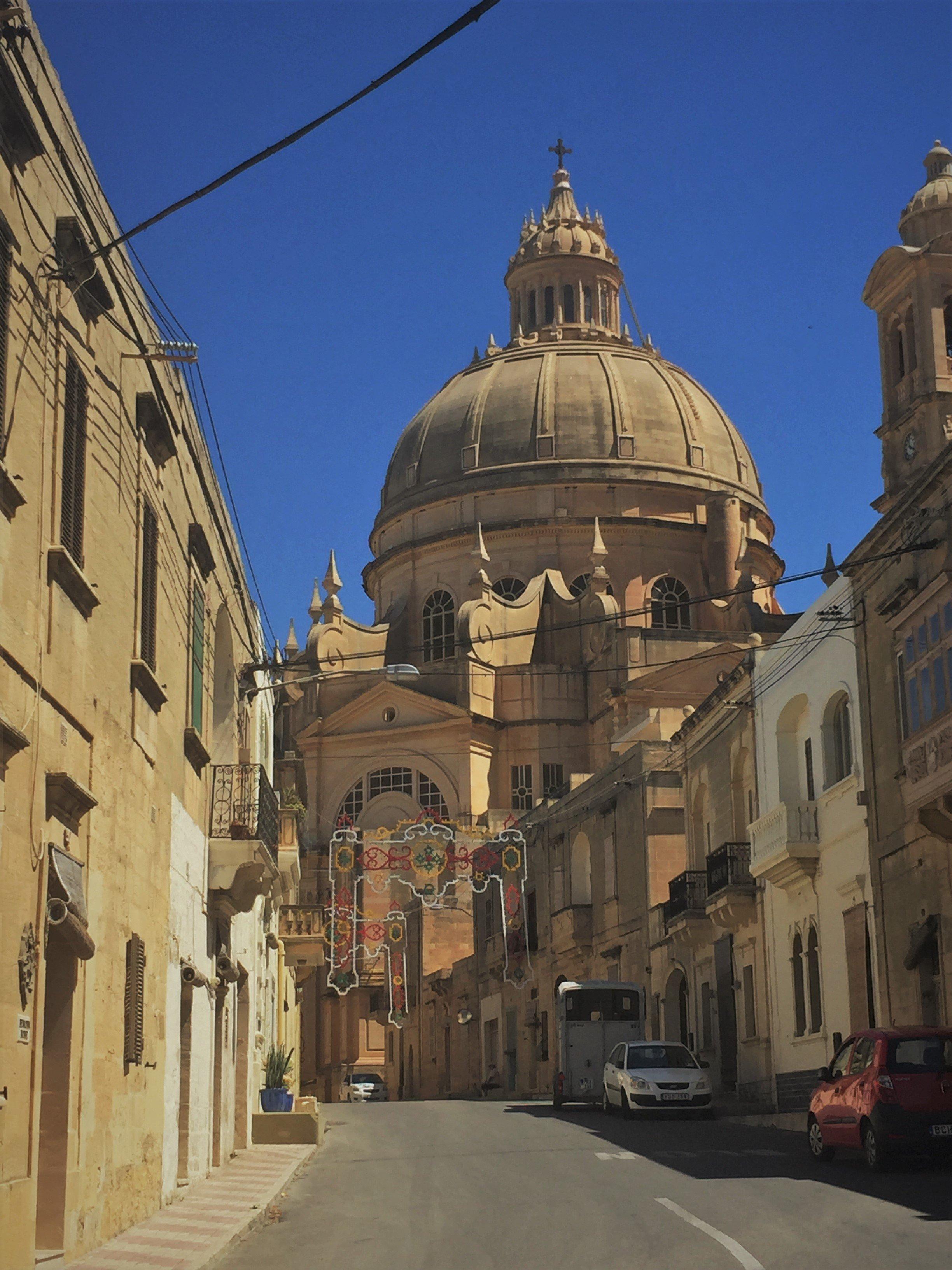 Malta, Gozo, Church of St John the Baptist, church, rotunda