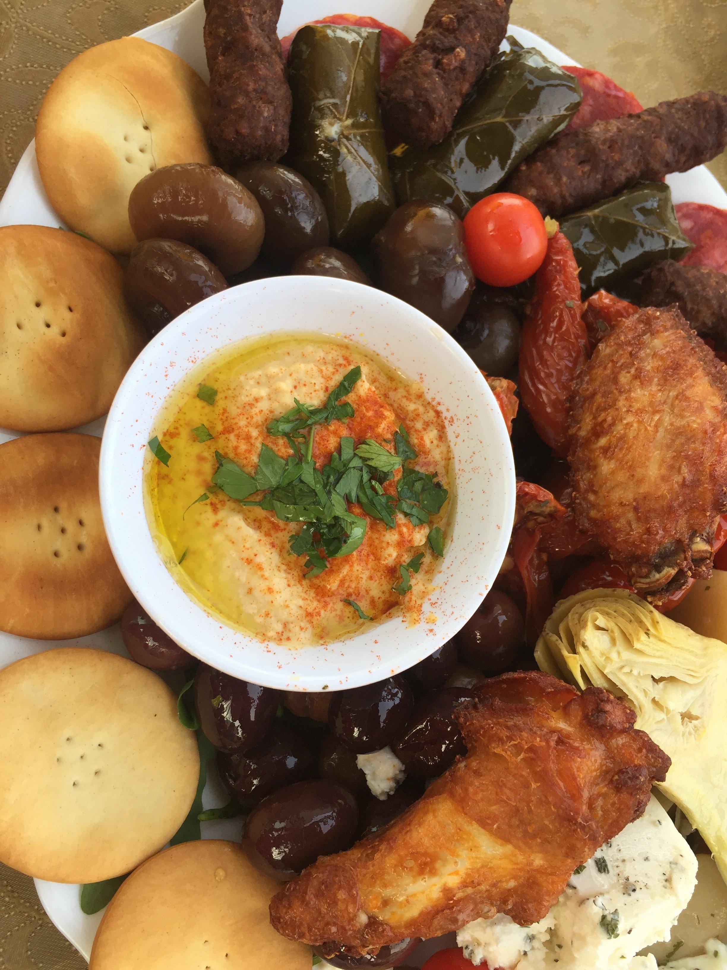 Mediterranean Platter at Vinum, Mdina, Malta