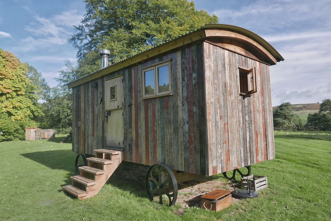 Shepherds hut in Northumberland, converted into cosy accommodation