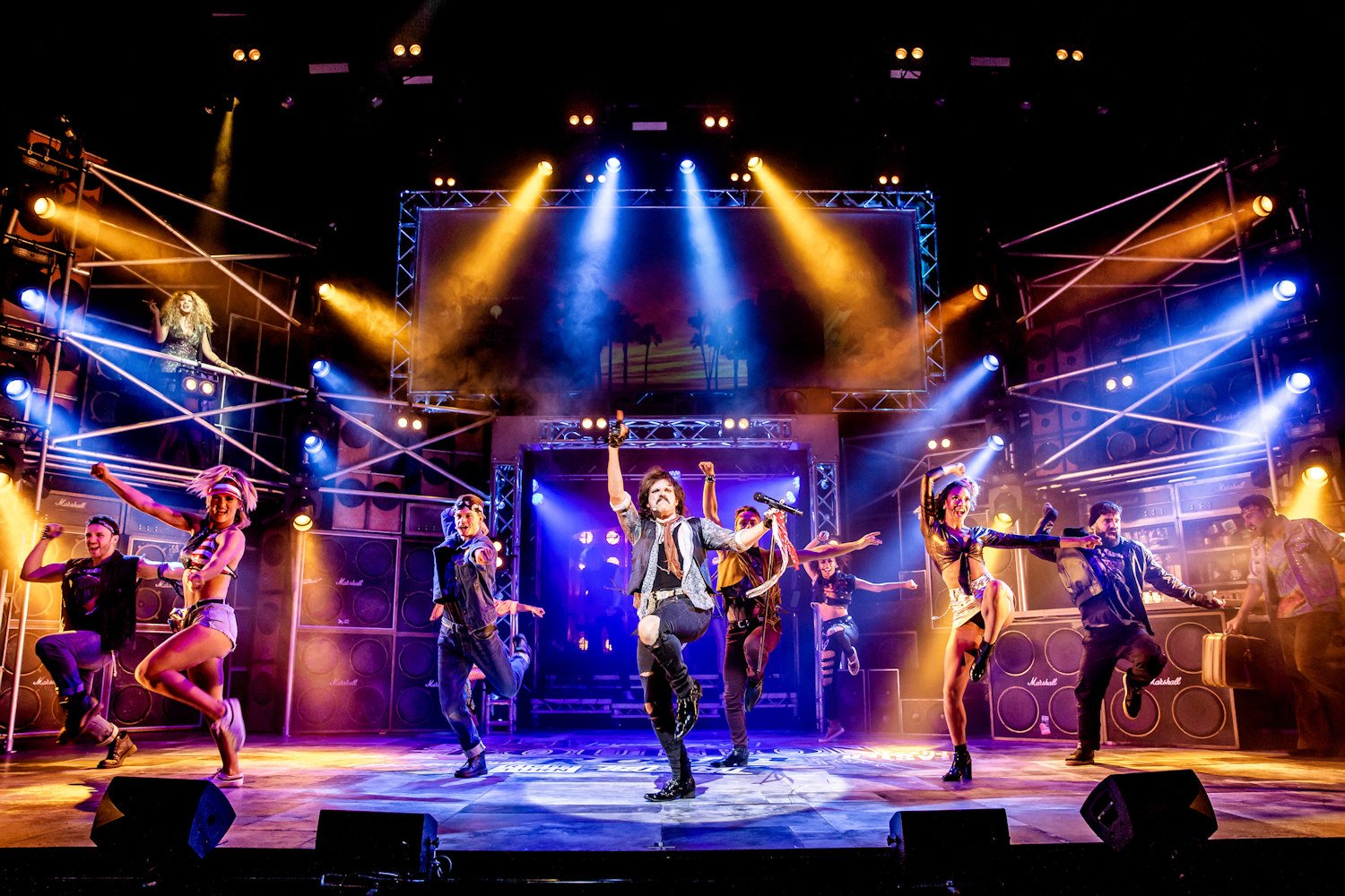 Rock of Ages is a nostalgic trip down memory lane to the days when big hair, eyeliner and tight trousers were the norm. And that was just the men...