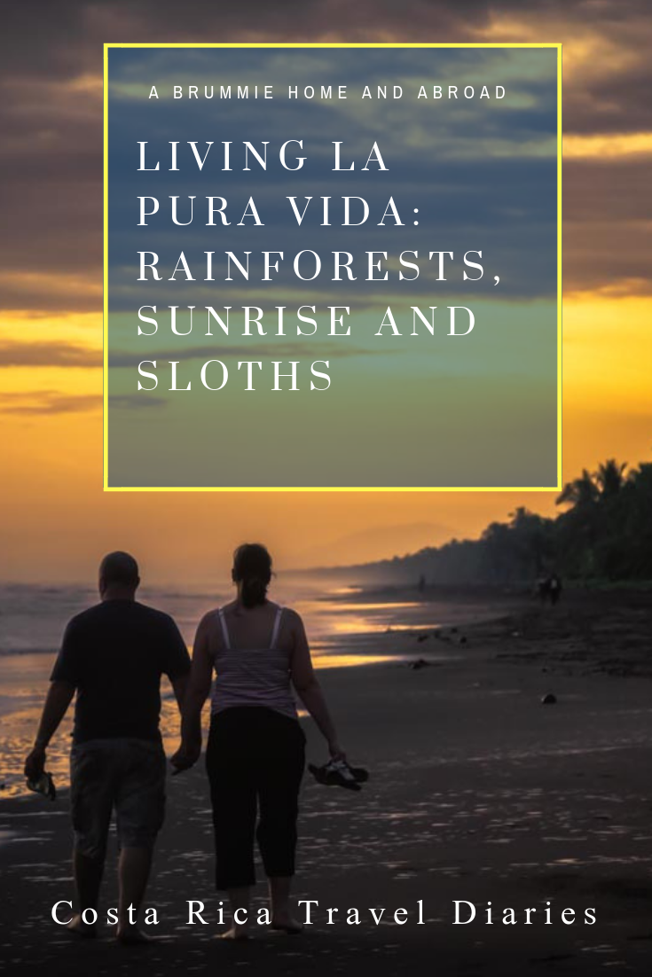It's a bumper Costa Rica travel diaries blog as we travel from the volcano of Arenal to the Carribean coast of Tortuguero, via the rainforest of Sarapiqui! A Brummie Home and Abroad Costa Rica Travel Diaries Living La Pura Vida: Rainforests, Sunrise and Sloths