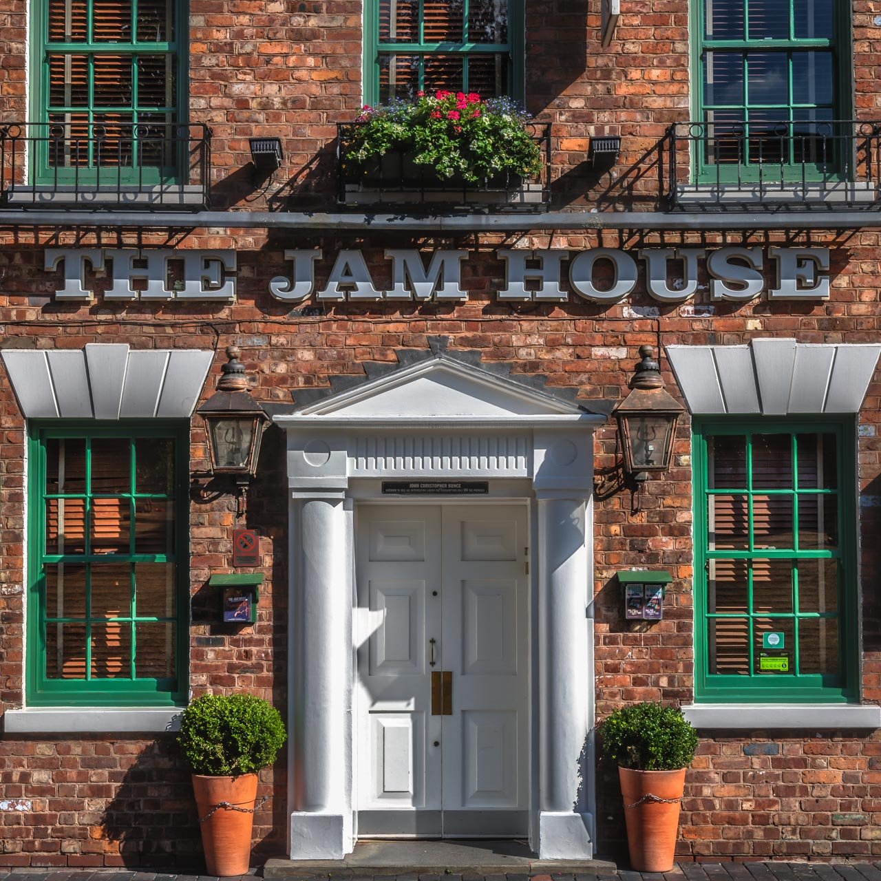 Frontage of the Jam House music venue in Birmingham's Jewellery Quarter