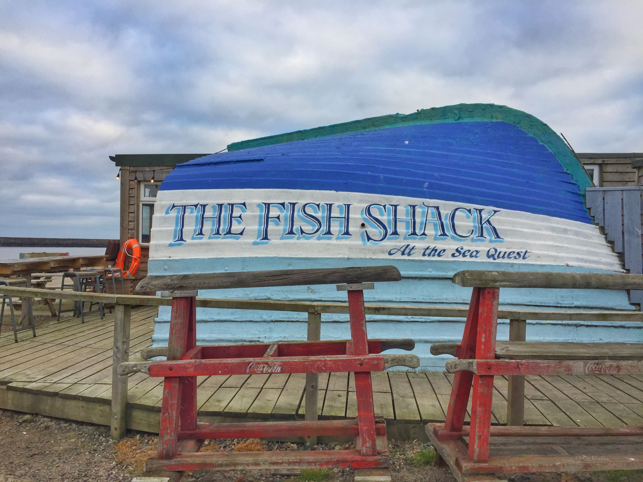 Hiking Amble to Alnmouth. The Fish Shack, Amble