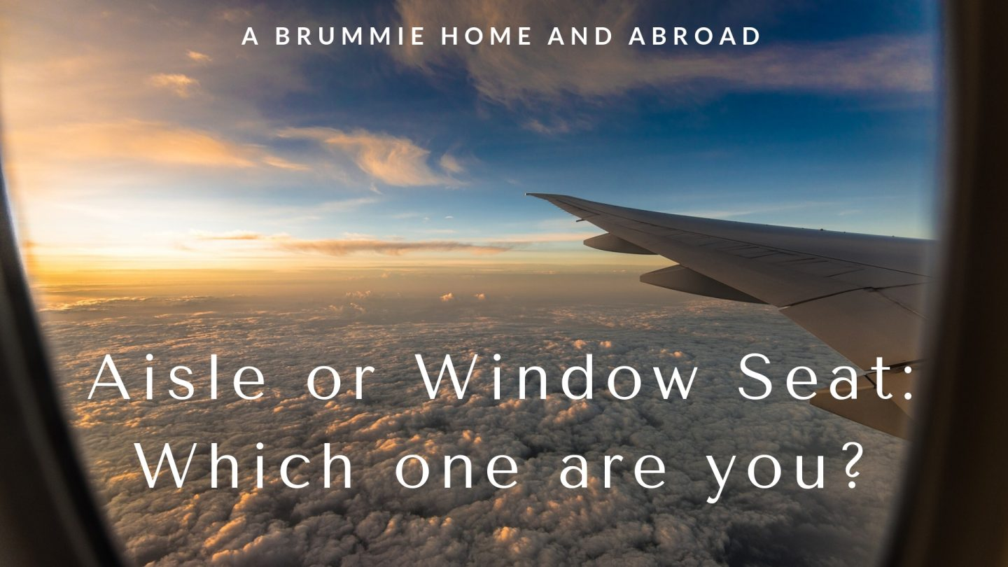 Aisle or Window Seat? Which one are you?
