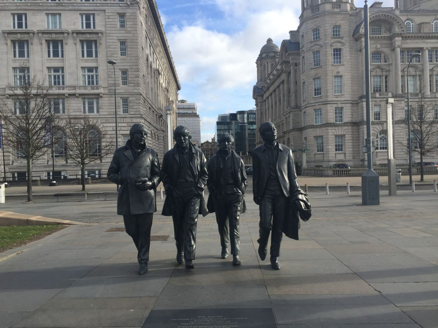 Beatles Statue, Liverpool waterfront. 36 hours in Liverpool