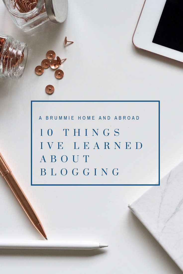 10 things I've learned about blogging.