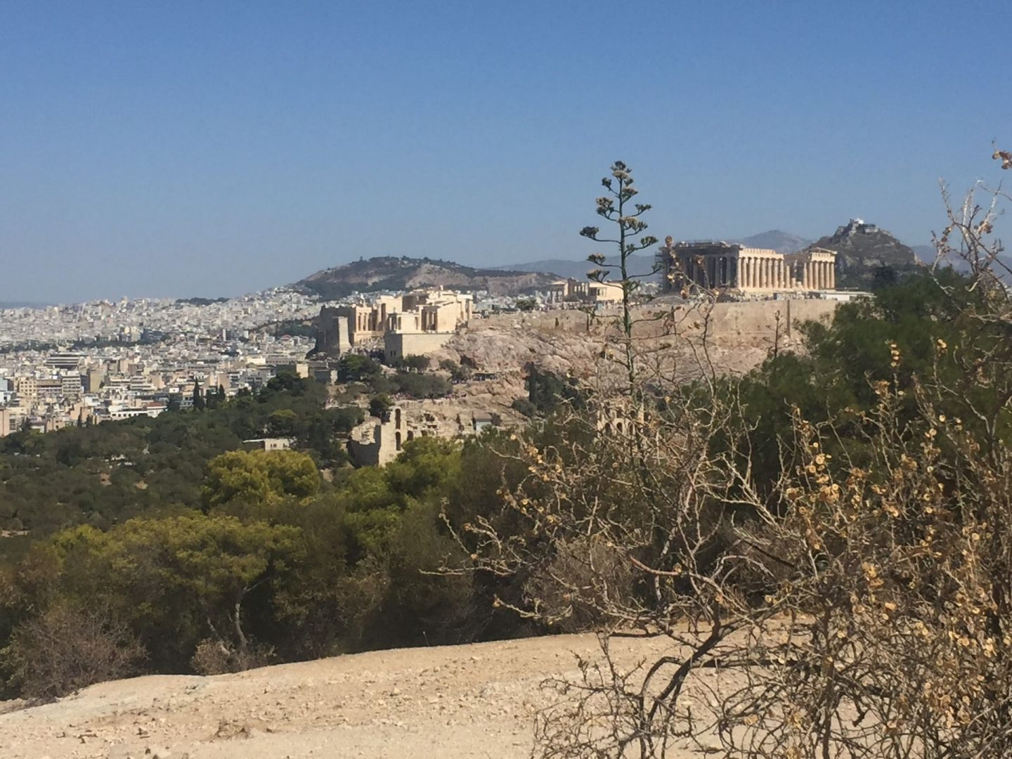 Views of the Acropolis in Athens