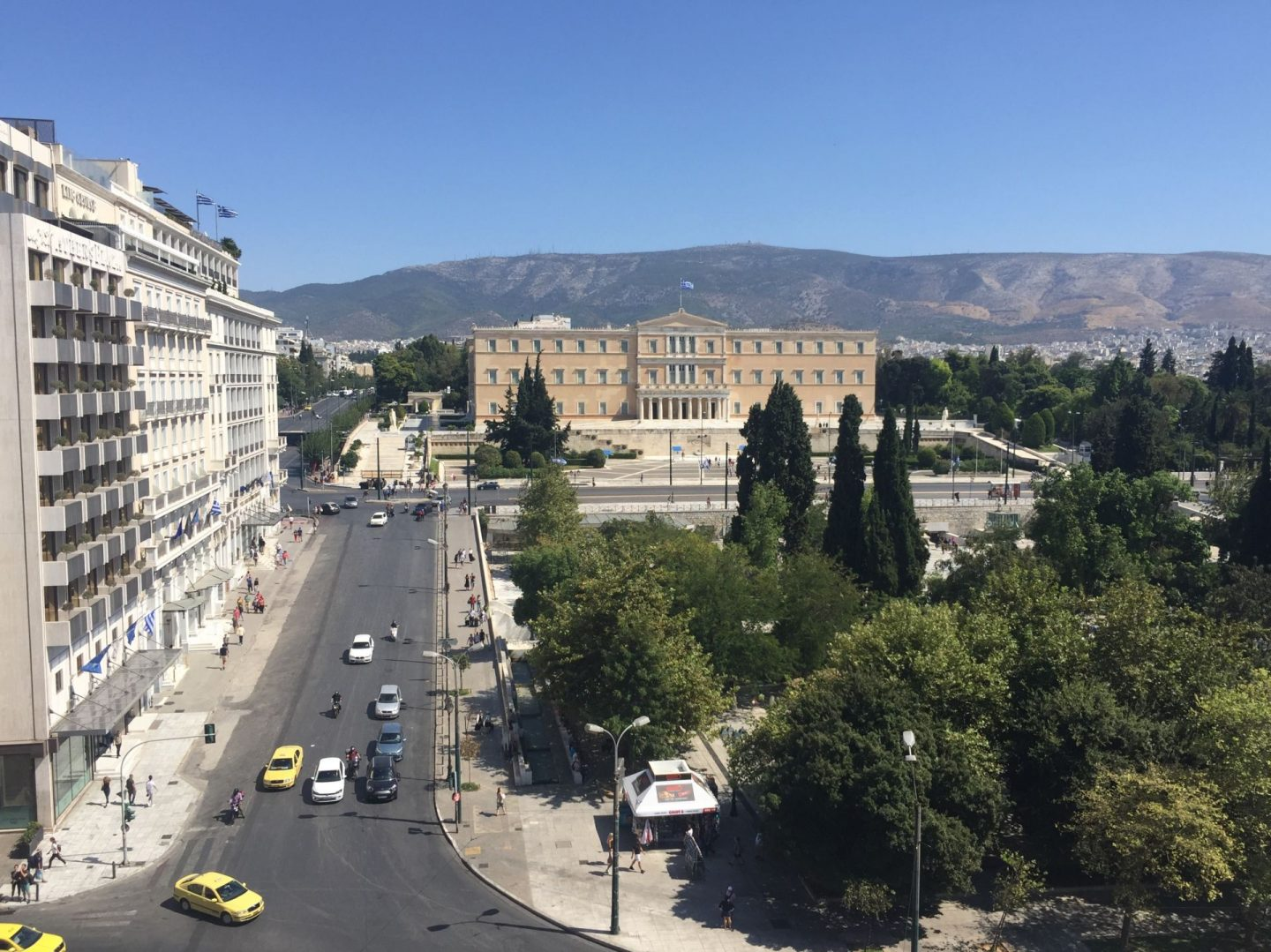 views over Syntagma Square in Athens