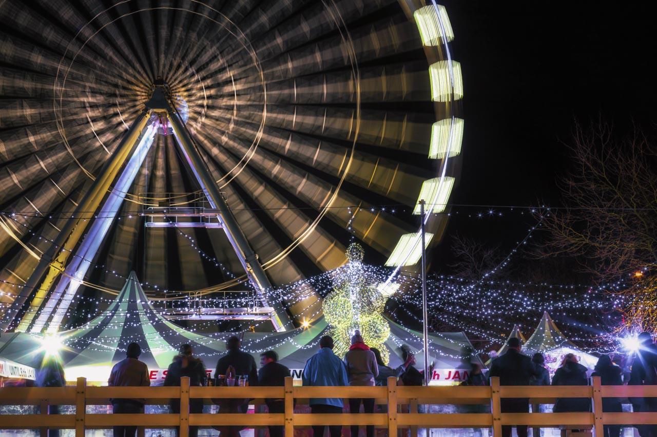 Ferris Wheel at Night at Birmingham Christmas Markets