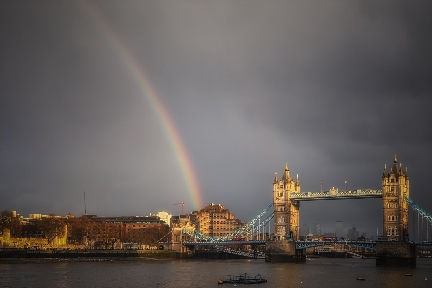 Rainbow over Tower Bridge, London