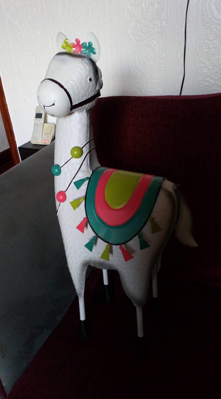 A llama garden ornament