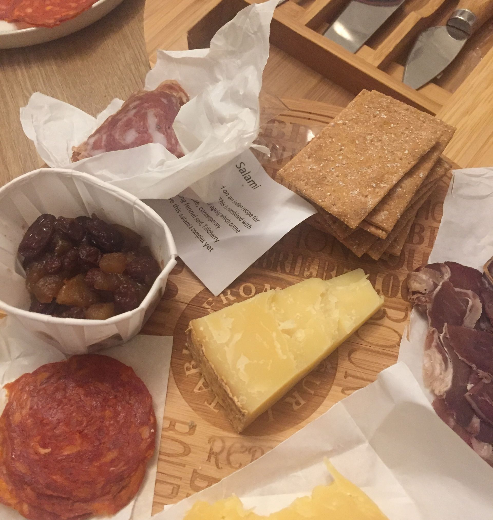 A cheese and meat platter from Arch13
