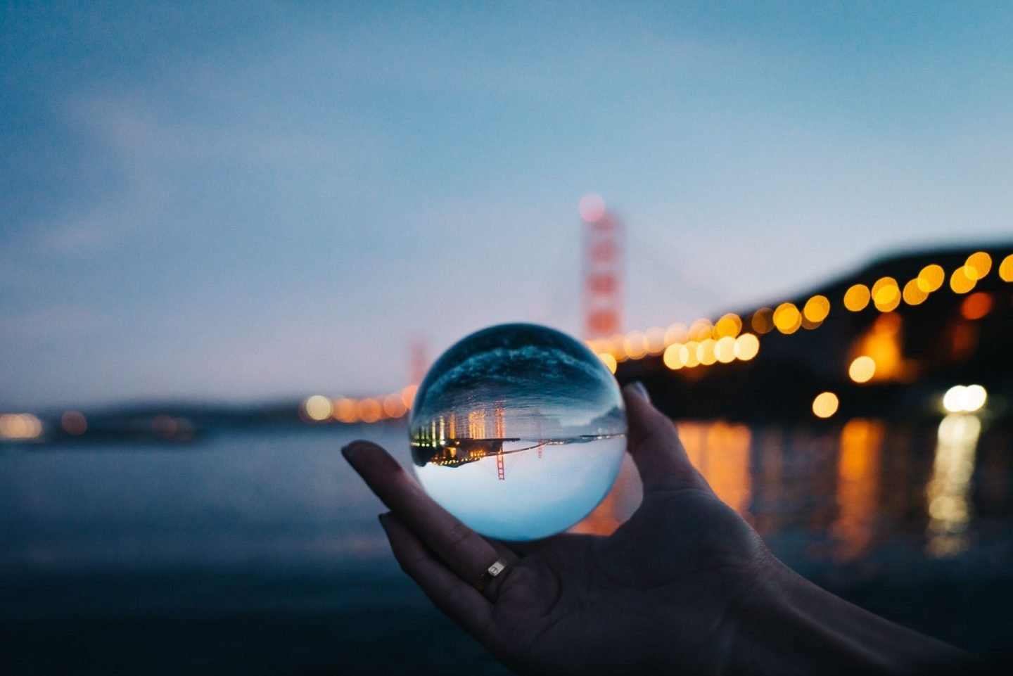 Crystal Ball, bridge reflections