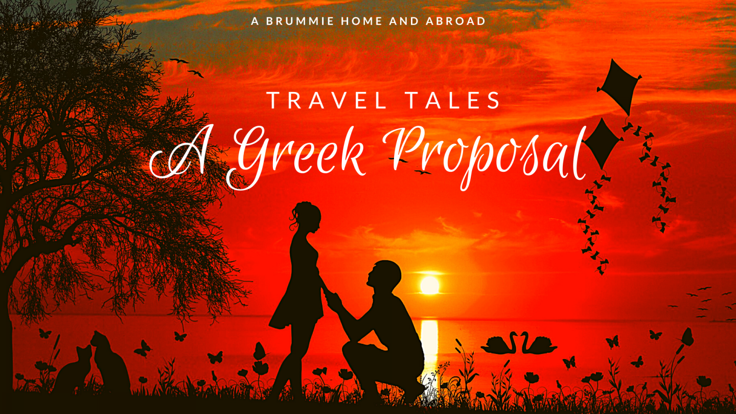 Just a bitesize tale of a boy, a girl, a bag of Cheetos and a Greek proposal...